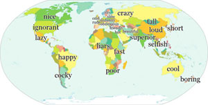 National Stereotypes in a word